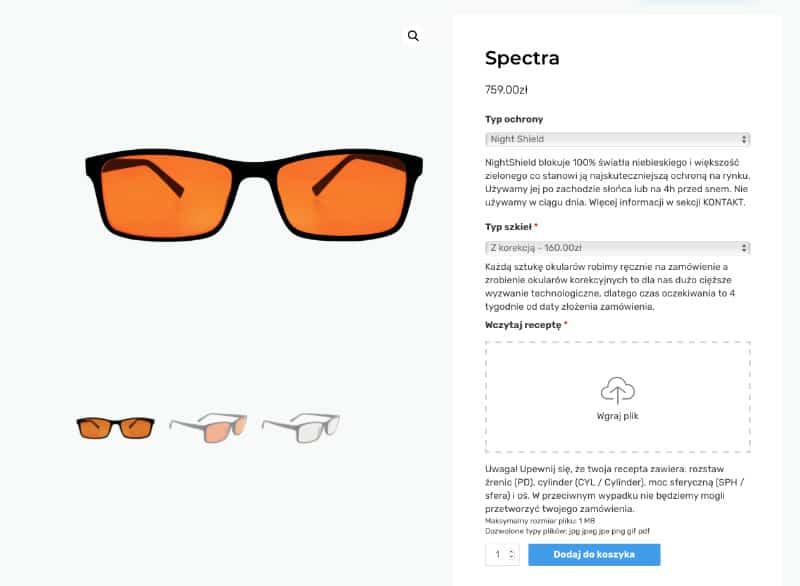 Sklep Internetowy Eye Shield - Two Colours / warianty produktowe