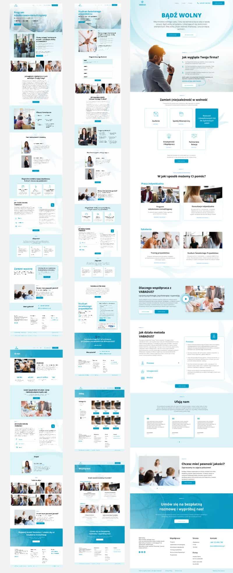 Dedykowany projekt graficzny - Strona www - Portfolio Two Colours Agency