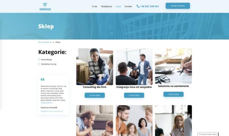 Sklep internetowy - Portfolio Two Colours Agency